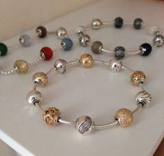 My Pandora. Pandora Jewelry Box, Pandora Gold, Pandora Beads, Pandora Bracelet Charms, Charm Jewelry, Jewlery, Pandora Essence Collection, Bracelet Designs, Diamonds