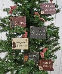 primitive christmas ornaments