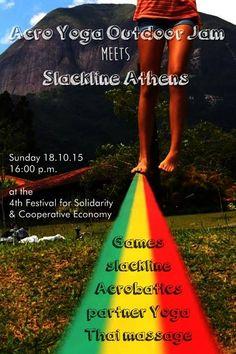 Αcro Yoga Outdoor Jam Meets Slackline Athens