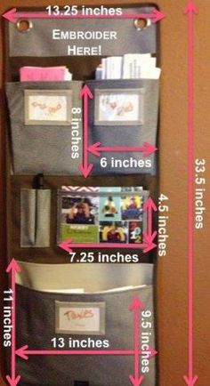Sizing of Hangup Room Organizer   You can buy them from me - click on the picture to get to my online store!!