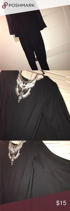 Formal black jumpsuit Black caped jumpsuit Charlotte Russe Dresses