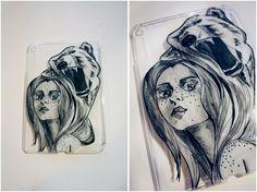 Siberian girl  #russia #siberia #bear #girl #case #ipad #art #artlife #draw