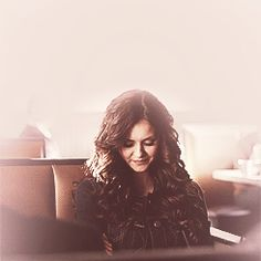 I am crazy about her hair! Nina Dobrev as Katherine Pierce VD s04e18 Click to source, it's animated.