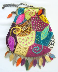 Crazy Quilted Croton Hand Bag