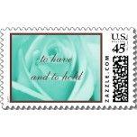 Wedding: Tiffany Blue & Chocolate Postage Stamps