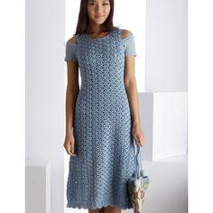 Blue Reflection Dress - This crochet summer dress is so cute!