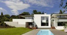 In Stuttgart, Germany, local architecture studio led by Alexander Brenner designed an interesting modern single family house