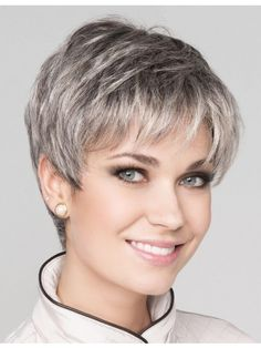 Top 36 Short Blonde Hair Ideas for a Chic Look in 2019 - Style My Hairs Grey Hair Wig, Short Grey Hair, Short Blonde, Short Hair Cuts, Black Hair, Pixie Cuts, Short Pixie, Long Hair, Smart Hairstyles