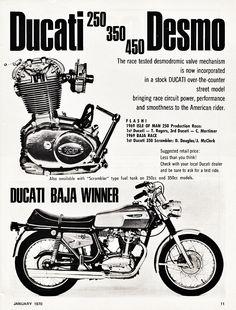 Ducati 250, 350, 450 Desmo (1970)