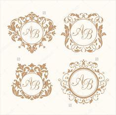 több esküvői logók tervez letölthető