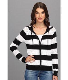 MICHAEL Michael Kors L/S Stripe Zip Hoodie Sweater