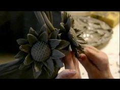 Ceramic flowers hand made by Italian expert artisans - YouTube