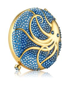 Limited Edition Intuitive Octopus Powder Compact by Estee Lauder at Bergdorf Goodman. Neiman Marcus, Solid Perfume, Pink Perfume, Lipstick Case, Face Powder, Powder Puff, Compact Mirror, Luxury Gifts, Estee Lauder