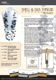 Ribtex, DIY, How To Projects, Shell & Silk Thread Necklace, Jewellery Making, Steps by Steps