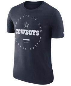Nike Men s Dallas Cowboys Property Of T-Shirt - Blue M Football Team Logos 77f3cffdb