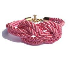 Pink Nautical Silk Rope Infinite Knot Bracelet Adjustable