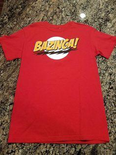 THE BIG BANG THEORY BAZINGA Men s Tee T-Shirt Medium M Ripple Junction   BigBangTheory 559ae08b2eccc