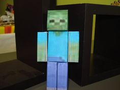Minecraft Papercraft Zombie. $3.00, via Etsy.