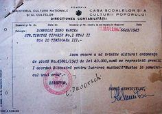 Ordonanta de plata pentru Premiul I George Enescu, 1943 1a 1c