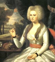 1798 Ralph Earl(1751-1801). Elizabeth Eliot (Mrs. Gershom Burr).