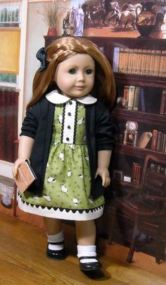 Dress and Sweater for AG by SugarloafDollClothes via Etsy, $49.00