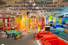 GIVEAWAY this week on Mom Explores Michigan! Family 4 pack to the Ann Arbor Hands On Museum!