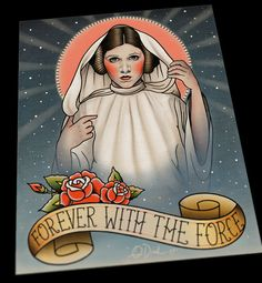 Princess Leia Memorial Flash Art Print, by Quyen Dinh