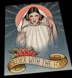 Princess Leia Memorial Flash Art Print, by Quyen Dinh