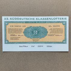 State Lottery, Lottery Tickets, Rhineland Palatinate, My Son Birthday, Bavaria, Ephemera, Germany, July 1, Etsy Shop