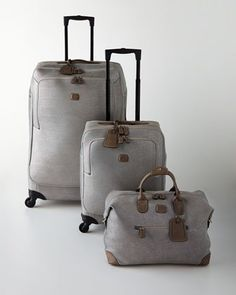 Life+Frosted+Silver+Luggage+by+Bric\'s+at+Horchow.