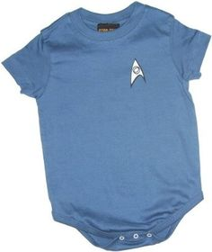 Amazon.com: Star Trek Science Blue Uniform Infant Onesie Snapsuit: Clothing