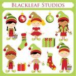 Santas Little Elves Clipart