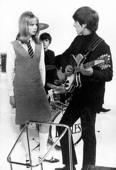 Pattie Boyd and George Harrison