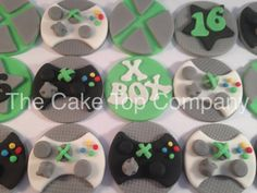12 Xbox Cupcake Toppers by TheCakeTopCompany on Etsy