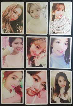 Top girl group TWICE debuted less than three years ago, but they've already released a ton of merchandise. New Mercedes, One In A Million, Photo Cards, Girl Group, Fur, Kpop, Wallpaper, Music, Collection