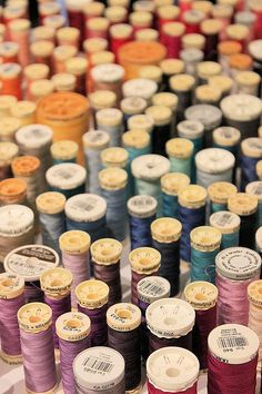 sewing thread: reminds me i have to organize mine #LetsSew
