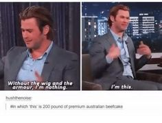 Chris's humility is so cute