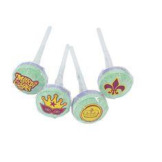 Mardi Gras Lollipops - OrientalTrading.com  46@7.25