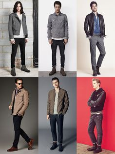 Men's Casual Jackets Lookbook - Quilted, Harringtons, Leather/Denim Jackets