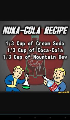 Video game recipes julia roberts pretty woman red jacket - Woman Jackets and Blazers Fallout 4 Funny, Fallout Game, Nuka Cola Recipe, Gamer Humor, Cream Soda, Funny Games, Funny Music, Geek Culture, Food Videos