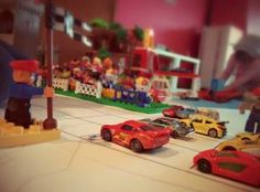 Monaco GP with little hotwheels cars and Lego DUPLO.