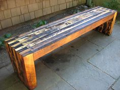 Reclaimed Bench--guest outdoor shower bench maybe