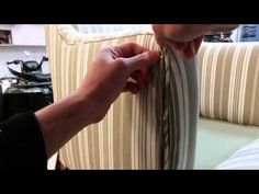 Upholstering an armchair. Part 6 -- Hand Sewing. - YouTube