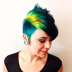 Reverse Ombre Yellow to Green