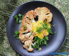 Carole's Chatter: Cauliflower Steak Cauliflower Steaks, Cabbage, Meat, Chicken, Vegetables, Recipes, Friday, Food, Essen