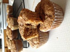 Unbeatable Bran muffins  2 eggs, beaten 2 cups buttermilk (i use 2 cups milk mixed with 1-2 TBL lemon juice and let sit for 5 min) 1/2 cup oil (can do 1/4 cup apple sauce with 1/4 cup oil to make a bit healthier) 5.5 cups wheat bran flakes 1.5 cups sugar 2.5 cups flour (can do half as wheat flour too) 2.5 tsp baking soda 1 tsp salt  Mix together wet ingredients then add Bran. Mix around (I like to crush the cereal into the wet a bunch). Add remaining ingredients. Mix, but don't over mix…