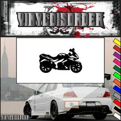 Motorcycle Wall Decal - Vinyl Decal - Car Decal - CD63