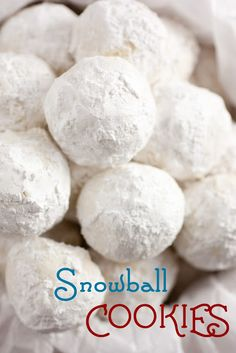 Snowball Cookies/Christmas/Winter  http://cookingclassy.blogspot.com/2012/12/snowball-cookies.html