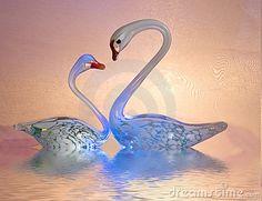 Delicate swans