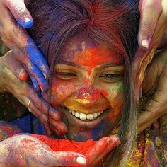 I want to go to this Indian paint festival/celebration someday.
